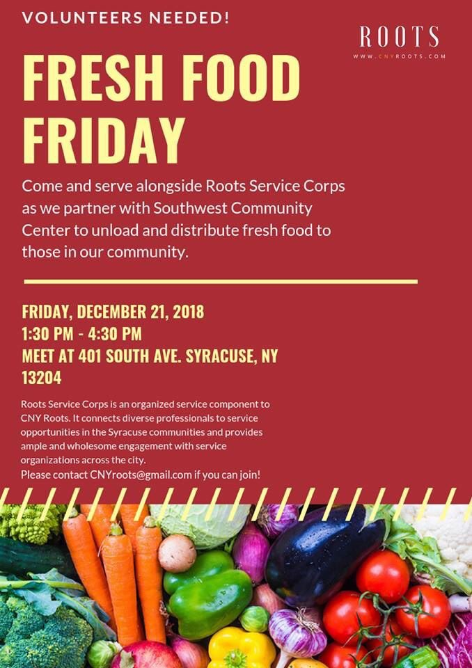 Volunteer Opportunity: CNY ROOTS Fresh Food Friday Event