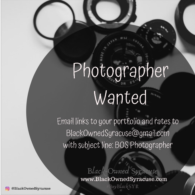 Black-Owned Syracuse is Looking for 1-2 Photographers!